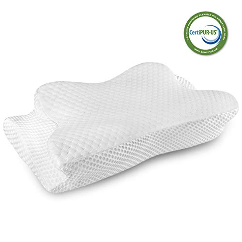 Cervical Pillow Contour Pillow for Neck and Shoulder Pain, Coisum Orthopedic Memory Foam Pillow Ergonomic Bed Pillow for Side Sleepers Back Sleepers, Neck Support Pillow Made of CertiPUR-US Foam