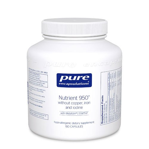 Pure Encapsulations Nutrient 950® without Copper, Iron and Iodine -- 180 Capsules -