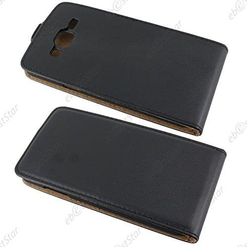 Para Samsung Galaxy J3 (2016) J310 Caso compacto de piel PU, arriba-abajo piel abierta PU Funda de piel con ranura para tarjeta y función de protección completa con cierre magnético Caja a prueba de g