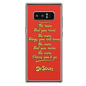 Loud Universe Dr Seuss Quote Samsung Note 8 Case Wisdom Classic Samsung Note 8 Cover with Transparent Edges
