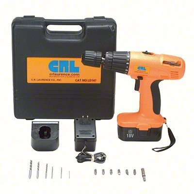 CRL 18V DC Cordless Variable Speed Impact Driver/Drill Kit by C.R. Laurence