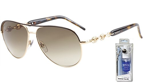 Gucci 4239/N/S 00JJ CC Shiny Brown/Brown Gradient Sunglasses Bundle-2 - Gucci Sunglasses 4239 S