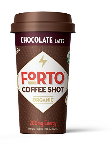 FORTO Coffee Shots – 200mg Caffeine, Chocolate Latte, High Caffeine Cold Brew Coffee, Bottled Fast Coffee Energy Boost, 6 Pack