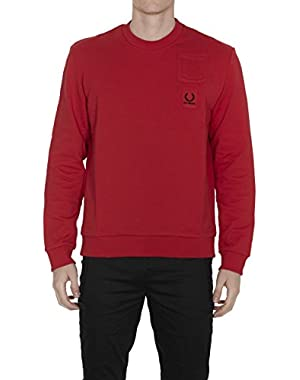 Men's SM141321956 Red Cotton Sweatshirt