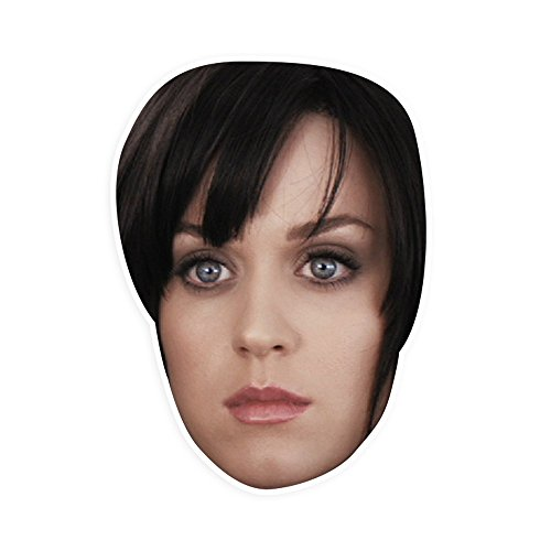 "[Sad Katy Perry Mask by RapMasks - 12"" x 9"" Waterproof Laminated] (Katy Perry Costumes For 10 Year Olds)"