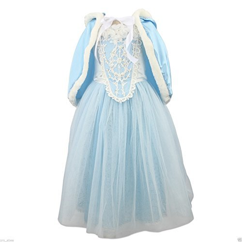 UK ELSA & ANNA? Girls Party Outfit Fancy Dress Snow Queen Princess Halloween Costume Cosplay Dress FBA-RAP1 (3-4 years, UK-RAP1) by ELSA & ANNA by UK1stChoice-Zone
