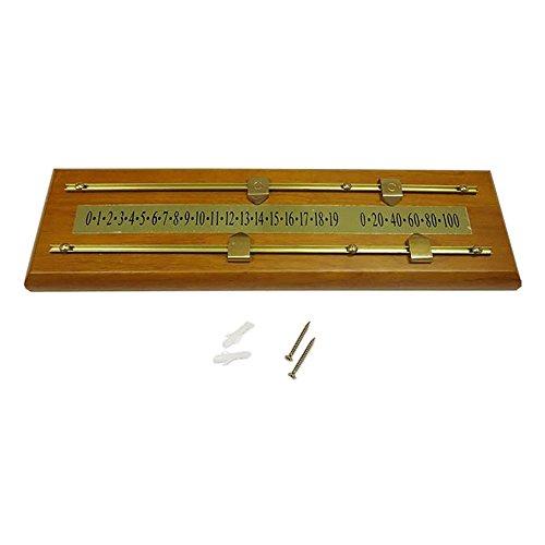 Sun-Glo Wood/Brass Shuffleboard Scoreboard - Dark Stain by Sun-Glo