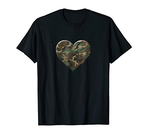 - I Love You American Soldier Troops Camo Heart Emoticon Shirt