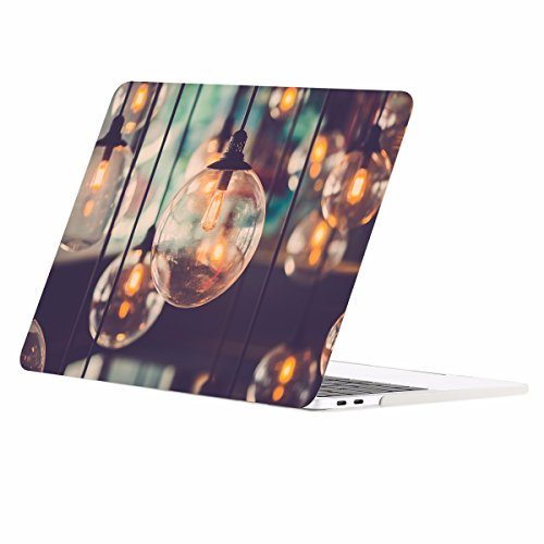 TOP CASE - Macbook Pro 13 Case Release 2017 & 2016, Graphics Rubberized Hard Case for MacBook Pro 13-inch A1706 with Touch Bar / A1708 without Touch Bar ( Release 2017 & 2016 ) - Brilliant Light