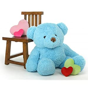 "Sammy Chubs - 38"" - Irresistibly Soft & Cuddly, Giant Teddy Sky Blue Plush Bear - 41OwF4jQyEL - Giant Teddy Original Bear Brand – Biggest Selection of Life Size Stuffed Teddy Bears (Sky Blue, 3 Foot)"