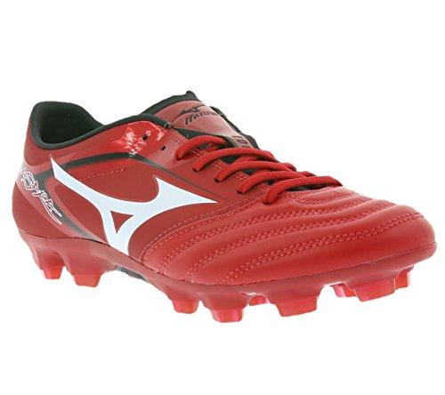 Mizuno Basara 001 KL Schuhe Herren Fußballschuhe FG Nocken Rot P1GA156201, Größenauswahl:43