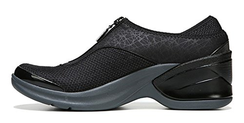 BZees Womens Majestic Low Top Slip On Fashion Sneakers Black Emboss Sy27Nwg