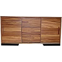 Madeira Solid Parota Wood Sliding Door Sideboard, Media Console