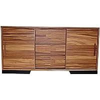 Madeira Solid Parota Wood Sliding Door Sideboard, Media Console