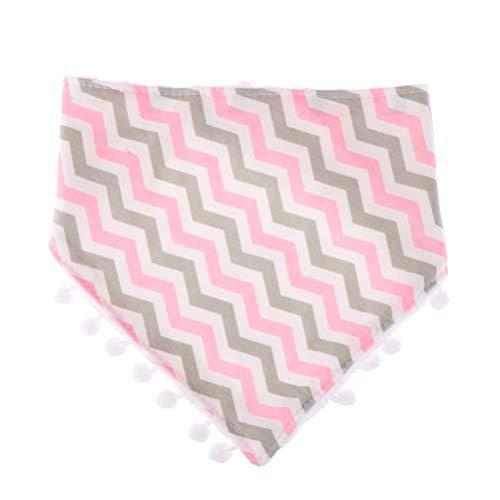 WayJaneDTP Baby Fringed Cotton Tassel Double Triangle Waterproof Infant Towel self Feeding ()