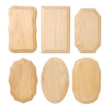 Wood Plaque 3.5x5.5 Assorted 6 Styles in Pack