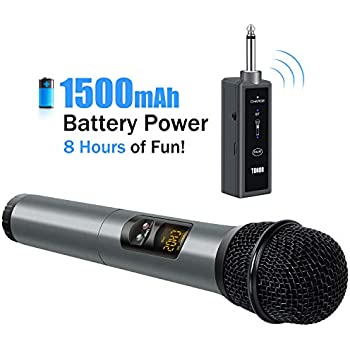 tonor uhf wireless microphone handheld mic with bluetooth receiver 1 4 output for. Black Bedroom Furniture Sets. Home Design Ideas