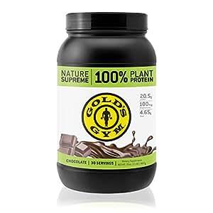 Golds Gym Vegan Protein Powder, 100% Plant Based, Chocolate Fudge, 2lb (30 servings)