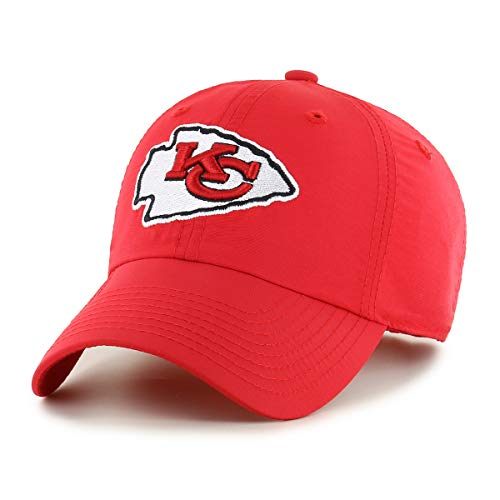 OTS NFL Kansas City Chiefs Male Wind Swept Challenger Adjustable Hat, Red, One Size