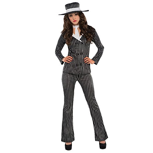 AMSCAN Mob Wife Halloween Costume for Women, Medium, with Included Accessories -