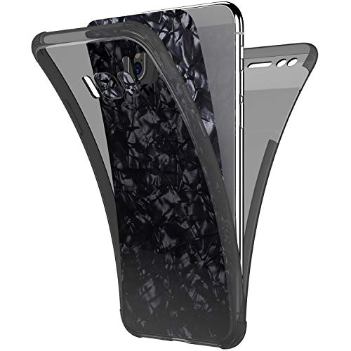 - Case for Galaxy S8 Plus,[Full-Body 360 Coverage Protective] Crystal Clear 2in1 Bling Glitter Shell Pattern Front Back Full Coverage Soft TPU Silicone Rubber Case Cover for Galaxy S8 Plus Case,Black