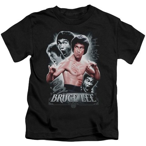 Trevco Bruce Lee-Inner Fury - Short Sleeve Juvenile 18-1 Tee - Black44; Small 4