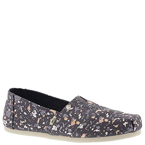 TOMS Women's Alpargata Forged Iron Grey Metallic Granite Fleck (Vegan) 9 B US