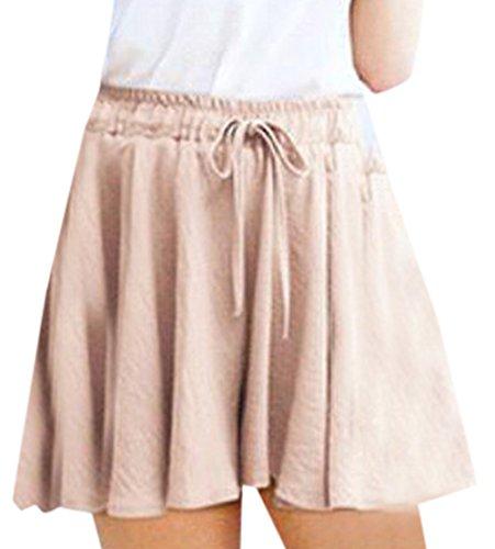 Jambe Femme Large Fashion Simple Court Haute Baggy Pantalons Casual Cordon avec Hot Rose Taille Fashion t Confort Pants Shorts qw46pOEw