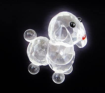 glass Asian figurines bear teddy