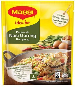5-Pack Maggi/Nasi Goreng Kampung (Malaysian Village Style Fried Rice)/ Cooking Mix/Good Aroma of Onion, Garlic, Dried Shrimp Paste & Anchovy/Great Scent & Savory Depth To The Rice/ 37g/pack