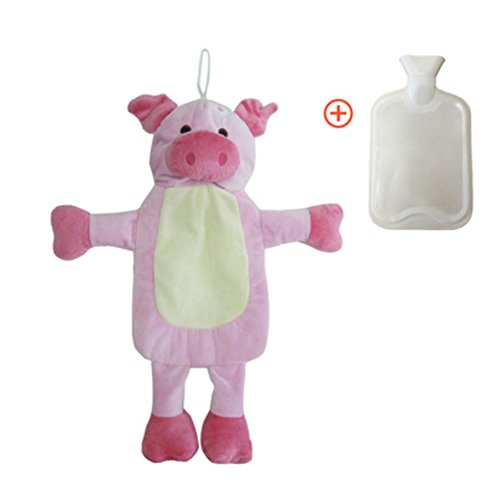 Water Bottle with Cover Hot& Cold Relief-Pig ()