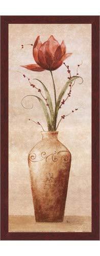 Poster Palooza Framed Tamara's Tulip- 8x20 Inches - Art Print (Walnut Brown ()