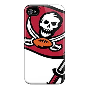Premium Durable Tampa Bay Buccaneers Fashion Tpu Iphone 4/4s Protective Case Cover