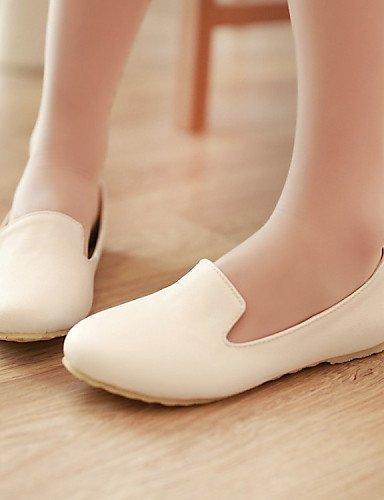 libero pelle Piatto Ballerine Donna Giallo Scarpe Comoda Finta Casual Nero Bianco ShangYi Tempo White 10xzInWww
