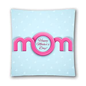 CCTUSGSH Cotton Throw Pillow Case Decorative Cushion Cover A Good Gift For Mother On Mother's Day 18 X 18 Inches One Side