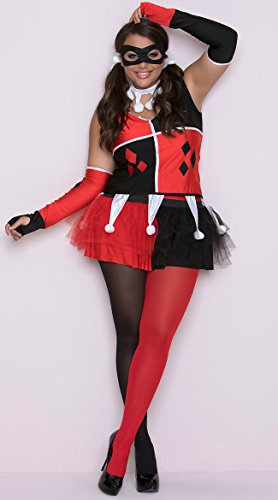 Harley Jester Adult Costume - Plus Size -