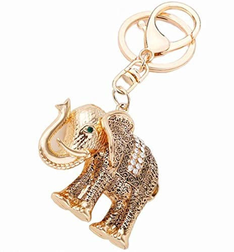 1 Pc Rhinestone Animals Elephant Keyrings Lover Pendants Men Wrist Wristlet Keys Hook Key Finder Topnotch Popular Pocket Bag Car Keychain - Usmc Shield