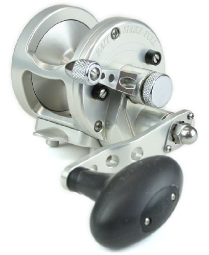 Avet MXJ5.8S 5.8:1 Lever Drag Conventional Reel, Silver, 300 yd/20 lb