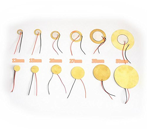 10Pcs Piezo Elements Sounder Sensor Trigger Drum Discwith flying leads (50mm) QiYue