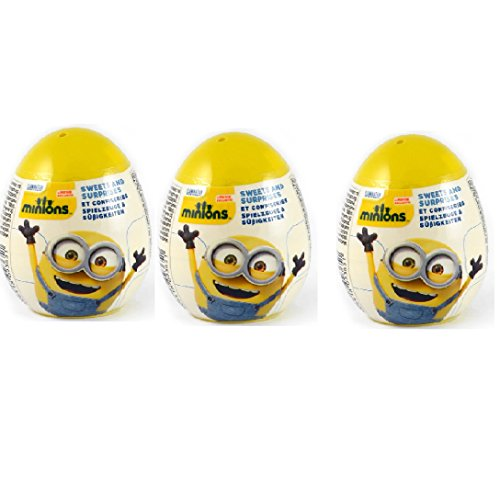 """Set of 3 Super Surprise eggs """"Minions"""" with puzzle and 3d card from cartoon&Minions Deluxe Action Figure - Build-A-Minion Arctic Kevin/Banana&Despicable Me 3 Micro Minion Playsets 3-Pack Set"""