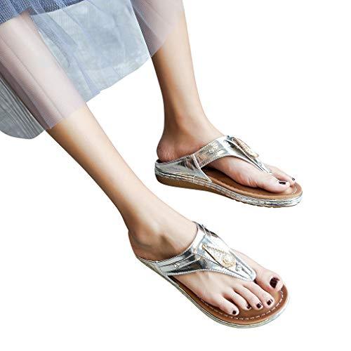 d'argent sandales de clip mode plage chaussures pantoufles type loisirs femme strass Witsaye nouvelle de de 706Za0Yq
