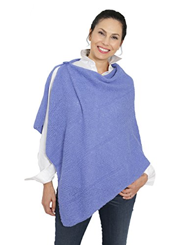 Incredible Natural Creations from Alpaca - INCA Brands One Button Poncho (Periwinkle) by Incredible Natural Creations from Alpaca - INCA Brands