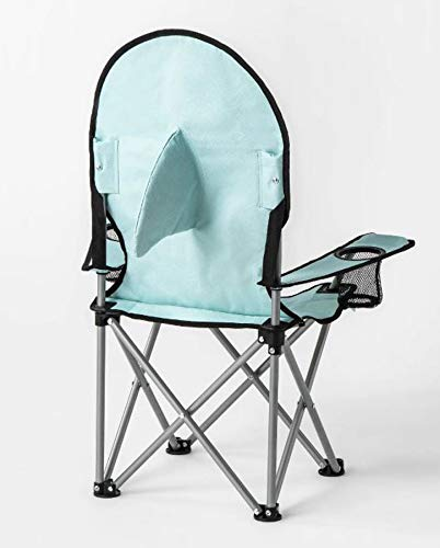 Sun Squad Kids Beach Chair! Foldable Children's Chair for Camping, Tailgates, and Outdoor Events! Kids Folding Chair with Handy Cup Holder and Carrying Bag! Choose Your Kids Chair Design! (Shark) by Sun Squad (Image #2)