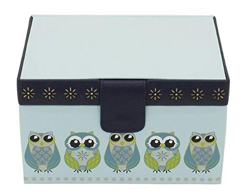 Friedrich|23 Damen-Schmuckkasten Owlivia blau - 20097-5