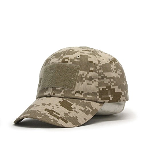 US Military Tactical Operator Adjustable Cap with Loop Patches (Desert Digital Camo) (Camo Tactical Digital)