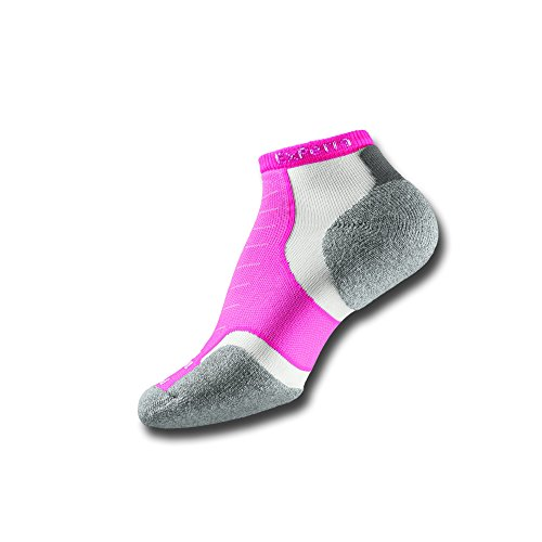 Thorlos Experia Unisex XCCU Multi-Sport Thin Padded Low Cut Sock, Pink, Medium - Padded Womens Socks