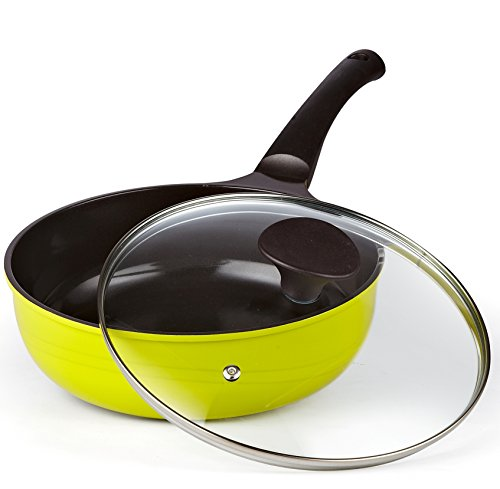 Cook-N-Home nonstick die-cast deep sauté stir fry pan