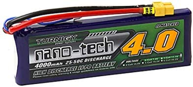 no2 Turnigy nano-tech 7.4V 4000mAh 25C50C リポ