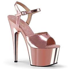"""7"""" Heel, 2 3/4"""" Platform Ankle Strap Sandal"""