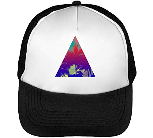 Beisbol Triangle Hombre Snapback Blanco Negro Gorras Summer Graphic Hipster Y6q71x